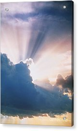 Sun Rays Acrylic Print by Erich Schrempp and Photo Researchers