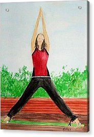 Acrylic Print featuring the painting Sun Salutation by Alethea McKee