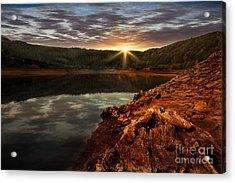 Sun Set Water Acrylic Print by Nigel Hatton