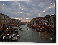 Sun Sets Over Venice Acrylic Print by Eric Tressler