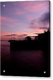 Sun Setting On Hull Marina Acrylic Print