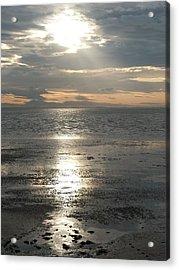 Sun Setting Over Spurn Point Acrylic Print