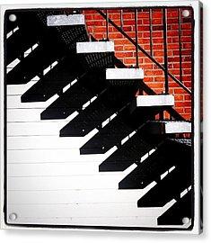 #sun #stairs #shadow #lines Acrylic Print