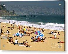Sunbathers Acrylic Print by David Frazier and Photo Researchers