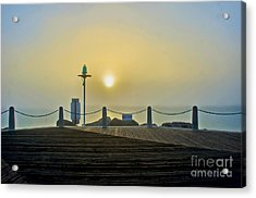 Acrylic Print featuring the photograph Sunburst In Fog by Joseph Hollingsworth