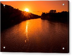 Sunburst Acrylic Print by Jason Naudi Photography