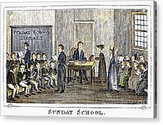 Sunday School, 1832 Acrylic Print by Granger