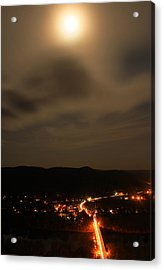 Sunderland By Moonlight From Mount Sugarloaf Acrylic Print