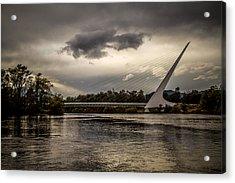 Acrylic Print featuring the photograph Sundial Bridge - 1 by Randy Wood