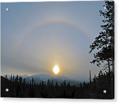 Acrylic Print featuring the photograph Sundogs  by Brian Sereda