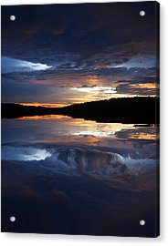 Sundown At Lake Acrylic Print