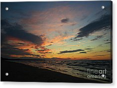 Acrylic Print featuring the photograph Sundown  by Barbara McMahon