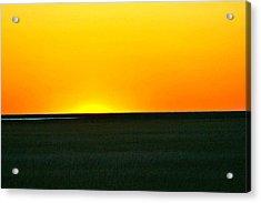 Sundown Acrylic Print by Debbie Sikes