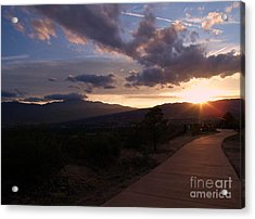 Sundown Acrylic Print by Donna Parlow