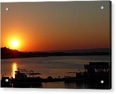 Sundown In Nessebar Acrylic Print by AmaS Art