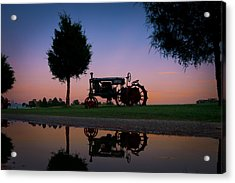 Sundown On Farmall At Chippokes Acrylic Print