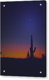 Sundown On The Desert 7746 Acrylic Print by J D  Whaley