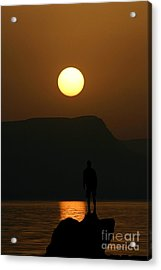 Sundown Silhouette Acrylic Print by Jerry L Barrett