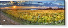 Sunet From Old Mission Acrylic Print by Twenty Two North Photography