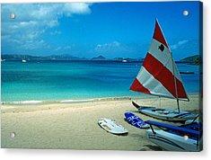 Sunfish On The Beach Acrylic Print by Kathy Yates