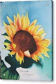 Sunflower 2 Acrylic Print by Teresa Beyer