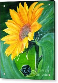 Acrylic Print featuring the painting Sunflower by AmaS Art