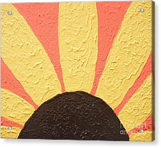 Sunflower Burst Acrylic Print by Jeannie Atwater Jordan Allen