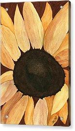 Sunflower Acrylic Print by Joan Zepf