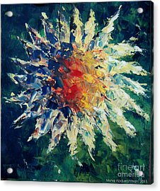 Sunflower Acrylic Print by Muna Abdurrahman
