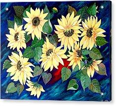Sunflower Orgy Acrylic Print