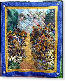 Sunflower Path Quilt Acrylic Print by Sarah Hornsby