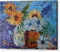 Sunflower Still Life Two Acrylic Print
