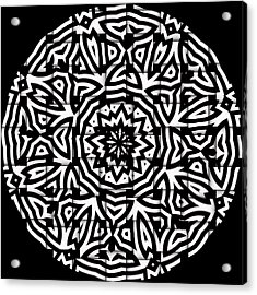 Acrylic Print featuring the digital art Sunflower by Visual Artist Frank Bonilla