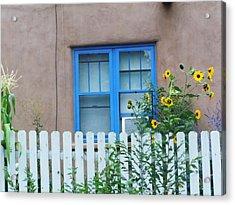 Sunflower Window  Acrylic Print by Vicki Lomay