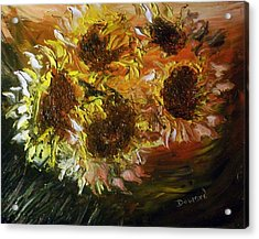 Sunflowers 3 Acrylic Print by Raymond Doward
