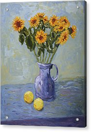 Sunflowers And Lemons Acrylic Print