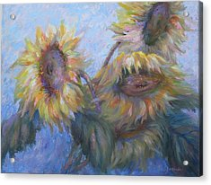 Acrylic Print featuring the painting Sunflowers by Bonnie Goedecke