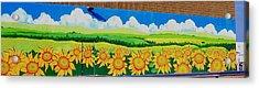 Sunflowers-exterior Mural Acrylic Print by Jennifer Little