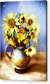 Sunflowers Acrylic Print by Heiko Mahr