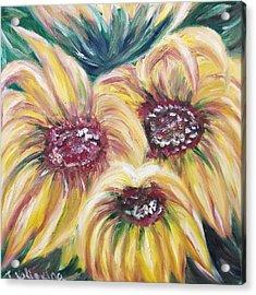 Sunflowers Acrylic Print by Irina Kalinkina