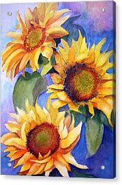Sunflowers Acrylic Print by Lori Chase