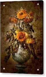 Sunflowers Acrylic Print by Marc Huebner