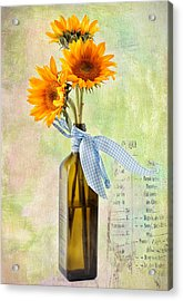 Sunflowers No 402 Acrylic Print by James Bethanis