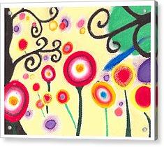 Sunflowers Acrylic Print by Susanna  M