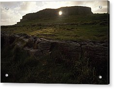 Sunlight Glows Through An Opening Acrylic Print by Justin Guariglia