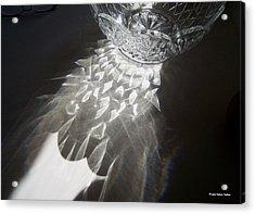 Sunlight On Crystal Bowl Acrylic Print by Suhas Tavkar
