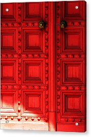 Sunlight On The Red Door Acrylic Print