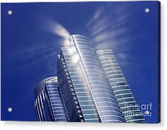 Sunlight Reflected Off An Office Building Acrylic Print by Jeremy Woodhouse