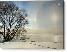 Sunlight Refracted In Hexagonal Ice Crystals Acrylic Print by Gail Shotlander