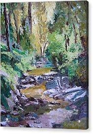Sunlit Woodlands Acrylic Print